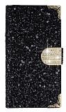 PinShang Turkcell T50 Taşlı Standlı Cüzdanlı Siyah Deri Kılıf