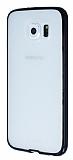 PIPILU Samsung i9800 Galaxy S6 Siyah Silikon Kenarlı Şeffaf Rubber Kılıf