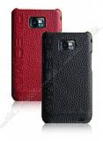 Pleomax Samsung Galaxy S2 K�rm�z� Deri K�l�f
