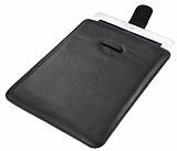 Pouch Universal �ekmeli Siyah Deri Tablet K�l�f�