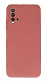 Xiaomi Redmi 9T Kamera Korumalı Turuncu Silikon Kılıf