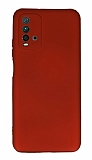 Xiaomi Redmi 9T Kamera Korumalı Kırmızı Silikon Kılıf