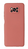 Xiaomi Poco X3 Kamera Korumalı Turuncu Silikon Kılıf