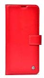 Realme C2 Kapaklı Cüzdanlı Kırmızı Deri Kılıf