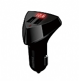Remax Dijital Göstergeli Yüksek Kapasiteli Siyah Araç Şarj Aleti