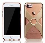 Remax iPhone 7 Selfie Yüzüklü Gold Rubber Kılıf