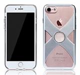 Remax iPhone 7 Selfie Yüzüklü Silver Rubber Kılıf