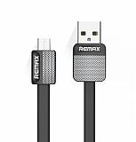 Remax Metal Micro USB Siyah Data Kablosu