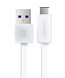 Remax Quick Charge USB Type-C Beyaz Data Kablosu