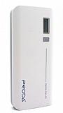 Remax Proda 20000 mAh Powerbank Beyaz Dijital G�stergeli Yedek Batarya