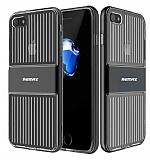 Remax Travel Hybrid iPhone 7 Ultra Koruma Siyah Kılıf
