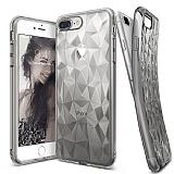 Ringke Air Prism 3D iPhone 7 Plus / 8 Plus Elmas Yansıması Smoke Black Kılıf