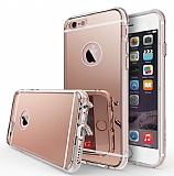 Ringke Fusion Mirror iPhone 6 / 6S Ultra Koruma Rose Gold Kılıf