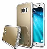 Ringke Fusion Mirror Samsung Galaxy S7 Ultra Koruma Gold Kılıf
