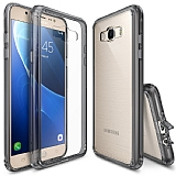 Ringke Fusion Samsung Galaxy J7 2016 Ultra Koruma Şeffaf Siyah Kılıf