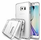 Ringke Fusion Samsung Galaxy S6 Ultra Koruma Şeffaf Beyaz Kılıf