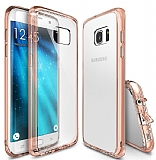 Ringke Fusion Samsung Galaxy S7 Edge Ultra Koruma Şeffaf Rose Gold Kılıf
