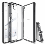 Ringke Fusion Sony Xperia Z5 �effaf Ultra Koruma Siyah K�l�f
