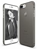 Ringke Slim Frost iPhone 7 Plus Tam Kenar Koruma Siyah Rubber Kılıf