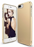 Ringke Slim iPhone 7 Plus / 8 Plus 360 Kenar Koruma Gold Rubber Kılıf