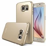 Ringke Slim Samsung Galaxy S6 360 Kenar Koruma Gold Rubber Kılıf