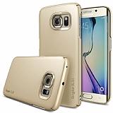 Ringke Slim Samsung Galaxy S6 Edge 360 Kenar Koruma Gold Rubber K�l�f