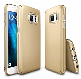 Ringke Slim Samsung Galaxy S7 360 Kenar Koruma Gold Rubber Kılıf
