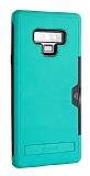 Roar Awesome Hybrid Samsung Galaxy Note 9 Standlı Ultra Koruma Mavi Kılıf