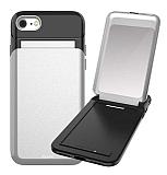 Roar iPhone 6 Plus / 6S Plus Aynalı Ultra Koruma Silver Kılıf