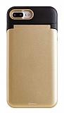 Roar iPhone 7 Plus / 8 Plus Aynalı Ultra Koruma Gold Kılıf