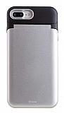 Roar iPhone 7 Plus / 8 Plus Aynalı Ultra Koruma Silver Kılıf