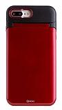 Roar iPhone 7 Plus / 8 Plus Aynalı Ultra Koruma Kırmızı Kılıf