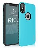 Roar Rico iPhone X / XS Ultra Koruma Mavi Kılıf