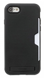 Roar Awesome Hybrid iPhone 6 / 6S Standlı Ultra Koruma Siyah Kılıf