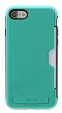 Roar Awesome Hybrid iPhone 6 / 6S Standlı Ultra Koruma Mavi Kılıf