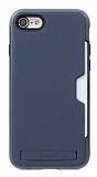 Roar Awesome Hybrid iPhone 6 / 6S Standlı Ultra Koruma Lacivert Kılıf
