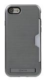 Roar Awesome Hybrid iPhone 6 / 6S Standlı Ultra Koruma Gri Kılıf