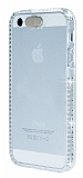 Eiroo Edges Glow iPhone 5 / 5S Fla� Sens�rl� Ta�l� �effaf Silikon K�l�f