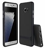 Rock Royce Samsung Galaxy Note 7 Lacivert Metalik Kenarlı Siyah Silikon Kılıf