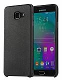 Rock Samsung Galaxy A7 2016 Siyah Deri Rubber K�l�f
