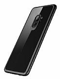 Rock Samsung Galaxy S9 Plus Siyah Silikon Kenarlı Şeffaf Rubber Kılıf