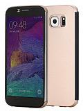 Rock Samsung i9800 Galaxy S6 Dokunmatik Kapaklı Gold Kılıf