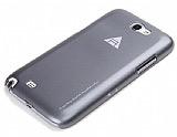 Rock Samsung N7100 Galaxy Note 2 Sert Parlak Gri Rubber Kılıf