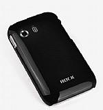 Rock Samsung S5360 Galaxy Y NakedShell Siyah Rubber K�l�f