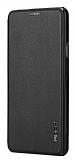 Rock Touch Samsung Galaxy A7 2016 İnce Yan Kapaklı Siyah Deri Kılıf
