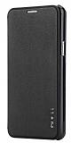 Rock Touch Samsung Galaxy On7 İnce Yan Kapaklı Siyah Deri Kılıf