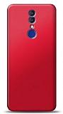 Alcatel 3 2019 Kırmızı Mat Silikon Kılıf