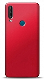 Alcatel 3x 2019 Kırmızı Mat Silikon Kılıf