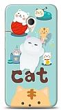 Alcatel U5 Üç Boyutlu Sevimli Kedi Kılıf