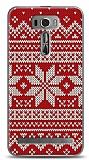 Asus Zenfone 2 Laser 6 inç Sweater Snow Kırmızı Kılıf